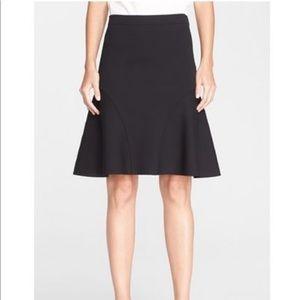 Black St. John fit and flare skirt
